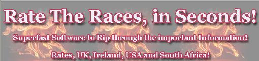 Rate The Races Heading Rate The Races  Introduction